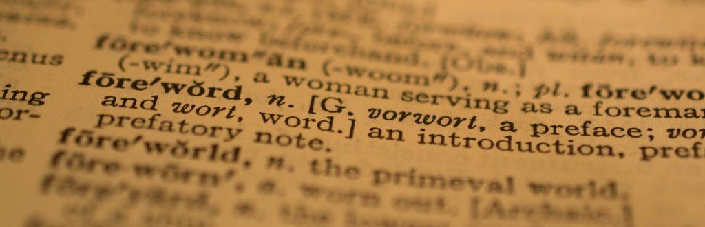 angol szótár egy oldala